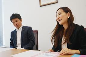 明光ネットワークジャパン、プロモーション部係長 岩本祐介氏 / プロモーション部 渡邊アスカ氏